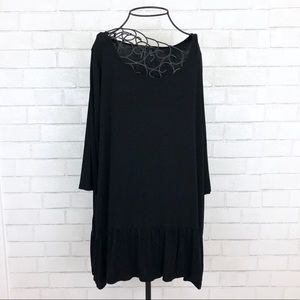 Cynthia Rowley Black 3/4 Sleeve Top